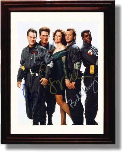 Framed Cast of Ghostbusters Autograph Replica Print - (Ghostbusters Cast)