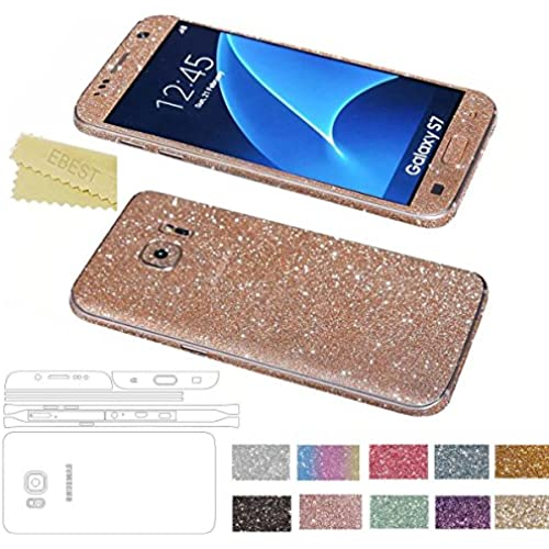 Galaxy S7 Edge Glitter Film Sticker(ET16006), Ebest Premium Glitter Film Sticker Full Film Front + Back + Side For Samsung Galaxy S7 Edge, Rose Gold Sales