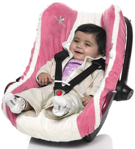 Wallaboo Baby Infant Car Seat Cover, Sweet Pink