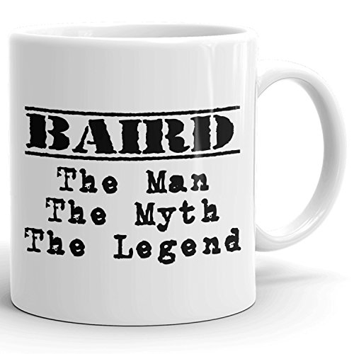 Best Personalized Mens Gift! The Man the Myth the Legend - Coffee Mug Cup for Dad Boyfriend Husband Grandpa Brother in the Morning or the Office - B Set 1