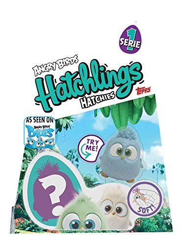 Topps Angry Birds HATCHLINGS HATCHIES, 1 Complete HATCHIE (Inner Soft Angry Bird and Outer Hard Shell Cover) Plus 1 Inner Soft Angry Bird HATCHIE, Series 1, Assorted -