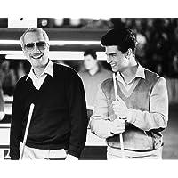 Moviestore Paul Newman als Fast Eddie Felson unt Tom Cruise als Vincent in The Color of Money 25x20cm Schwarzweiß-Foto