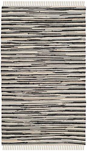 Safavieh Rag Rug Collection RAR129Q Hand Woven Black and Multi Cotton Area Rug (3