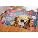 Dog Door Mat Outdoor Indoor Welcome Funny Home Personalized Low Profile Doormat For Bathroom Classroom Bedroom Living Room Pool Floor Soft Square Rug