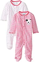 Gerber Baby Girls' 2 Pack Zip Front Sleep 'N Play