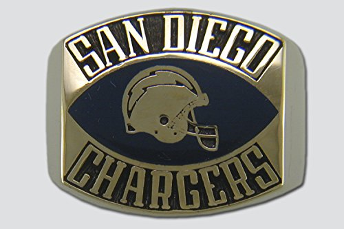 San Diego Chargers Contemporary Style Ring, Size 13 Goldplated