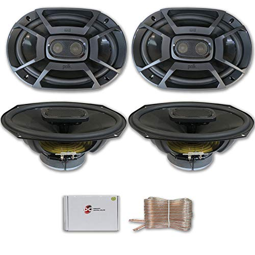 4 x Polk Audio 6x9 3-Way Car Audio Boat Motorcycle Marine UTV Audio Coaxial Speakers