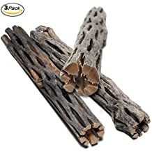 SunGrow Natural Cholla Wood, 3 Pieces, 5 inches Long: Aquarium Decoration and Chew Toys for small pets