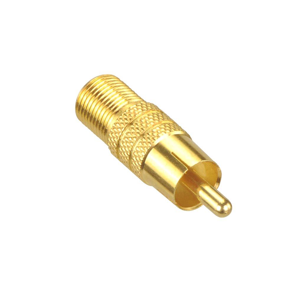 VCE 12 St/ück F-Stecker 7mm Vergoldet mit Gummidichtung breite Mutter f Adapter f/ür Koaxial Antennenkabel Sat Kabel BK Anlagen LNB Multischalter