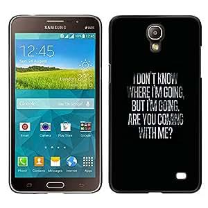 Stuss Case / Funda Carcasa protectora - Where Going Me Love Valentines Black - Samsung Galaxy Mega 2