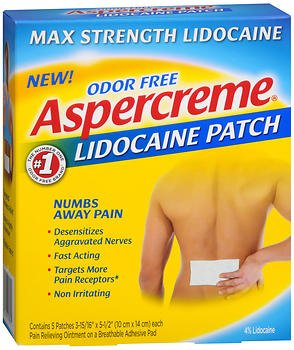 Aspercreme Lidocaine Patches - 5 count (Pack of 3) (Lidoderm Lidocaine Patch)