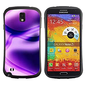 Fuerte Suave TPU GEL Caso Carcasa de Protección Funda para Samsung Note 3 N9000 N9002 N9005 / Business Style Abstract Purple