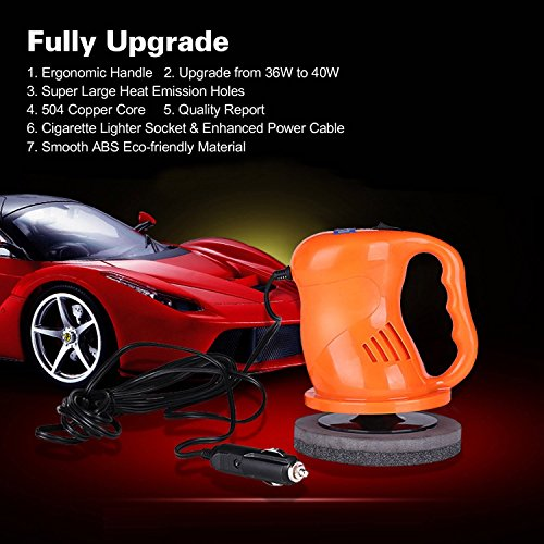 AUTOPDR Car Polishers and Buffers 12V 40W Car Waxing Waxer/Polisher Machine Car Gloss For Car Paint Vehienlar Electric by AUTOPDR (Image #2)