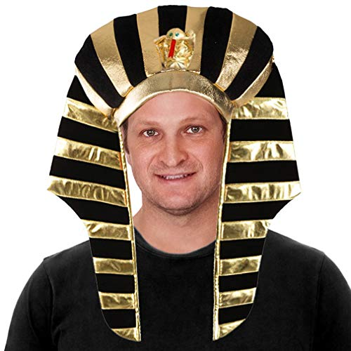 Tigerdoe Pharaoh Hat - Egyptian Headpiece - King TUT Costume - King Pharaoh Costume ()