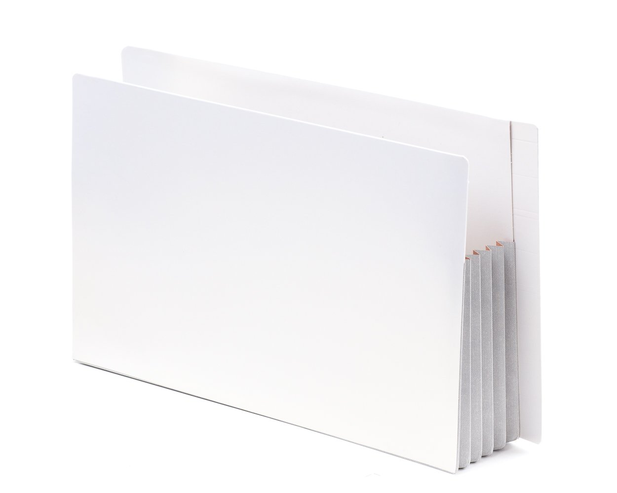 TAB ZEROfile Heave Duty File Pocket Carbon Neutral 100% Recyclable White End Tab 4'' Expansion Legal Size 40/Box