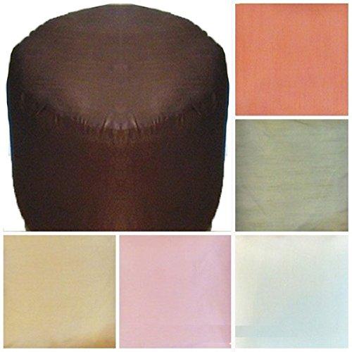 Amazoncom Saffron Foot Stool Ottoman Cover Pouf Round Furniture