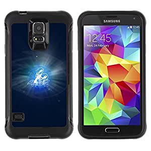 Paccase / Suave TPU GEL Caso Carcasa de Protección Funda para - Cancer Zodiac Sign - Samsung Galaxy S5 SM-G900
