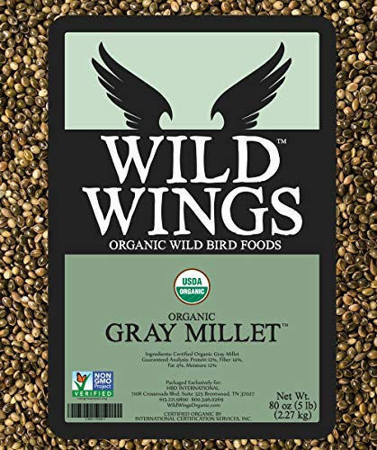 Wild Wings Organic Gray Millet Seed 5lb