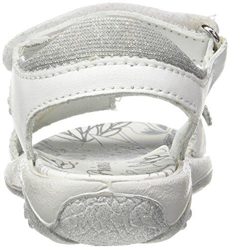 Fille Bout PBR Primigi Ouvert Bianco Argento Blanc 7595 Sandales Xq6twtx71