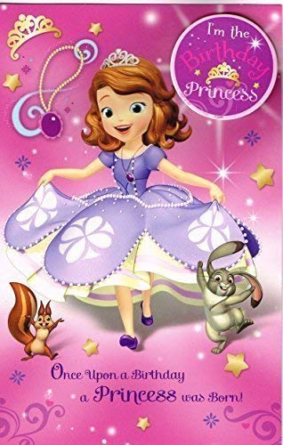 sofia la primera Érase un cumpleaños princesa nací tarjeta ...