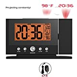 BALDR Projection Clock, Snooze Alarm Clock with Backlight, Digital Alarm Clock with Ceiling Projection of Time and Temperature