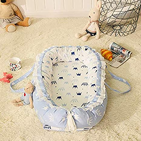 Woodland Fox Arrow Newborn Baby Bassinet for Cot Bed//Lounger//Nest//Sleep Pod 100/% Soft Breathable /& Hypoallergenic Co-Sleeping Baby 0-24 Months TEALP Portable Crib for Bedroom//Travel