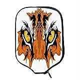 YOLIYANA Eye Durable Racket Cover,Tiger Eyes Graphic Mascot Animal Face Bengal Cat African Safari Predator Theme Decorative for Sandbeach,One Size