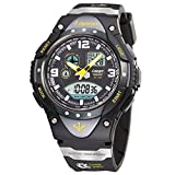 Boys Watches, Analog Digital Dual Time Watch Waterproof Sports Boys Wrist Watches 1018ad Black
