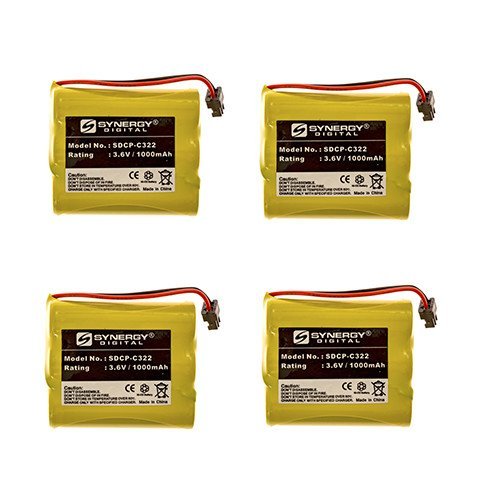 Sharp FT-4400 Cordless Phone Battery Combo-Pack Includes: 4 x SDCP-C322 Batteries 4400 Cordless Phone Battery