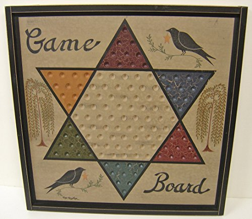 OWI Game Board Chinese Checkers Sign Primitive Country Rustic Gameboard