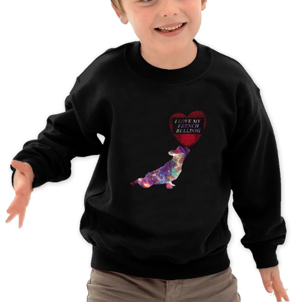 Ilove My French BulldogSweatshirt For Children Quality Fleeces Fashion Personality Athletic Long-sleeved Hoody