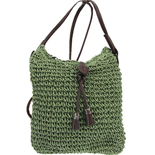 Donalworld - Bolso de hombro mujer Verde - Verde Caqui