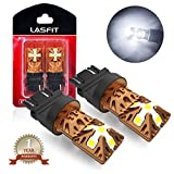 LASFIT 3157 3156 3057 3056 4157 LED Bulbs 6000K Super Bright Use for Back Up Reverse Lights, Daytime Running Lights, Parking Lights, Xenon White (Pack of 2)