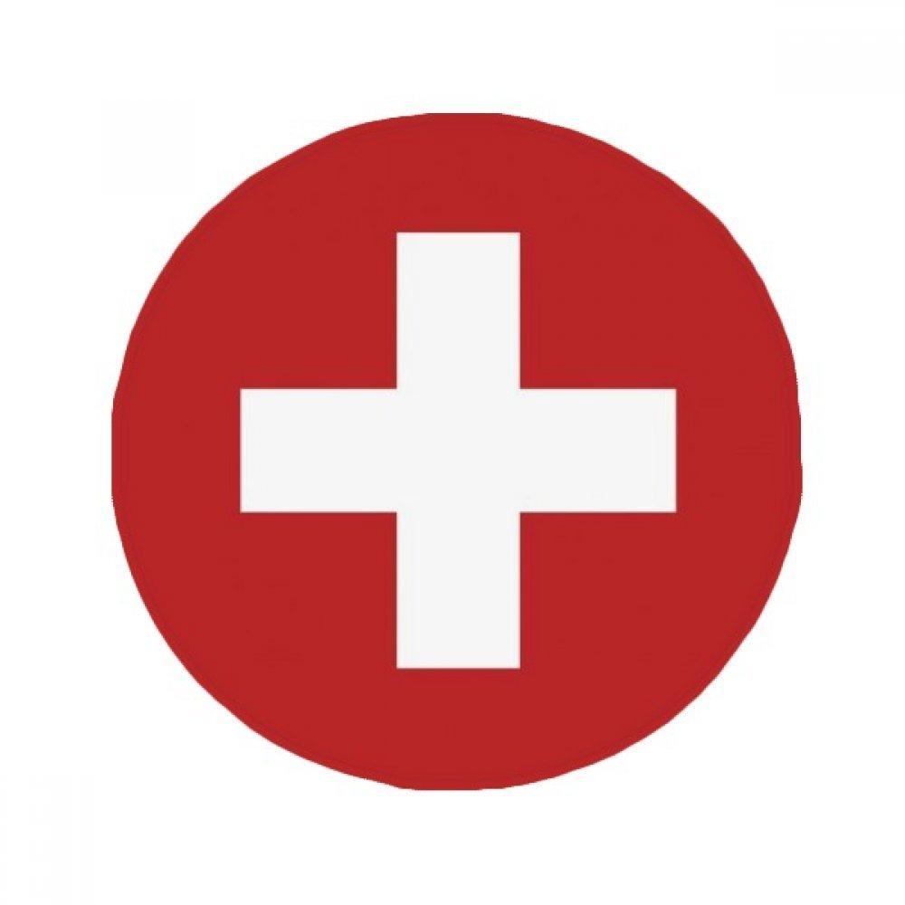 60X60cm DIYthinker Switzerland National Flag Europe Country Anti-Slip Floor Pet Mat Round Bathroom Living Room Kitchen Door 60 50Cm Gift