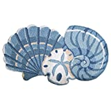 Decor Accents Seashell Ocean Beach Decor Accent Rug, Blue