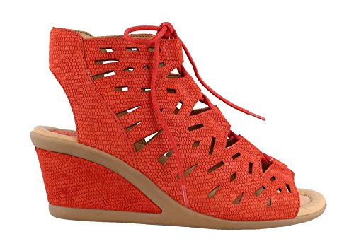 Earth Wedge Daylily Women's Sandal Red PvrPRwq