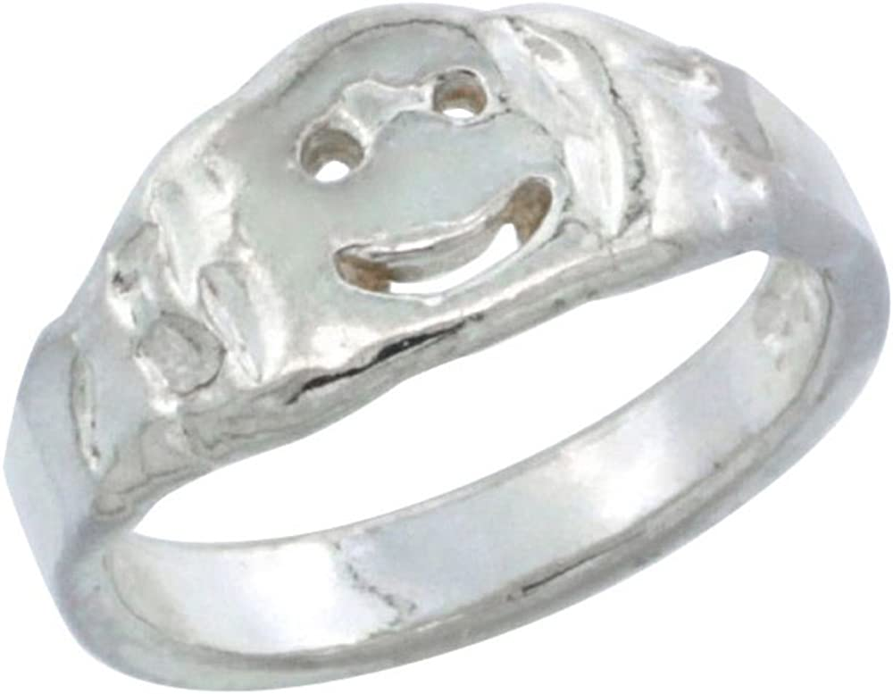 Princess Kylie 925 Sterling Silver Half Bead Half Plain Wave Ring