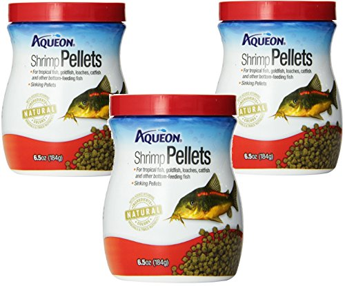 (3 Pack) Aqueon Shrimp Pellets Fish Food, 6.5 Ounces Each