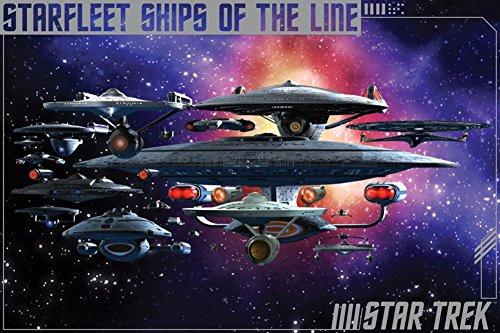 Star Trek- Ships Of The Line Poster 36 x 24in (Star Trek Poster)