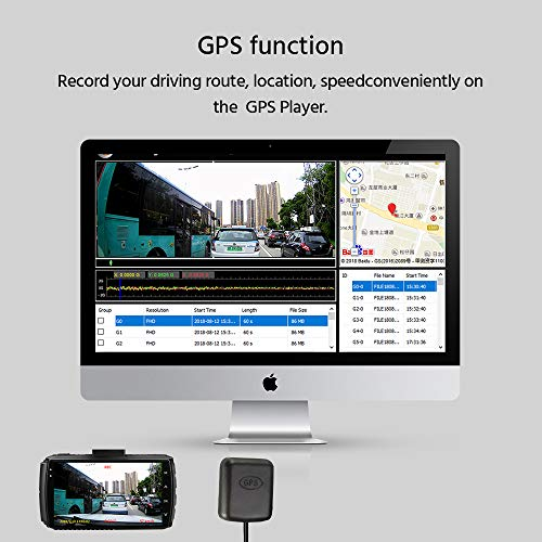 Z-Edge Dash Cam Front and Rear 4.0 Touch Screen Dual Dash Cam FHD 1080P with Night Mode, 32GB Card Included,155 Degree Wide Angle, WDR, G-Sensor, Loop Recording, Support 128GB Max