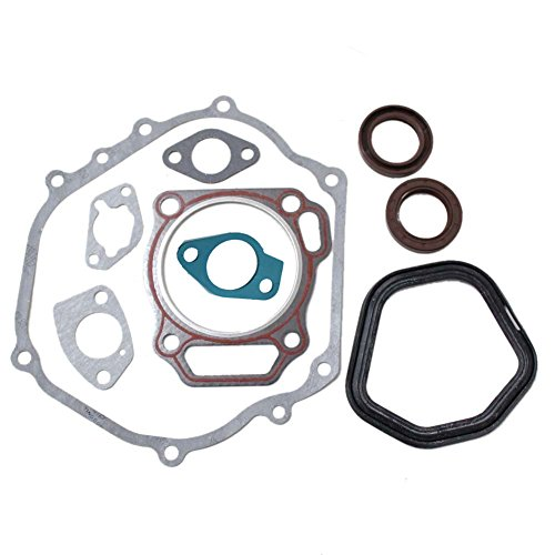 Podoy Gx390 Gasket Cylinder Head Exhaust Muffler with Crankcase Oil Seal for Honda 13hp ()