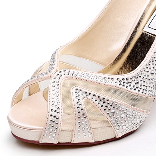 Scarpe LUXVEER donna Champagne col tacco dFqOY