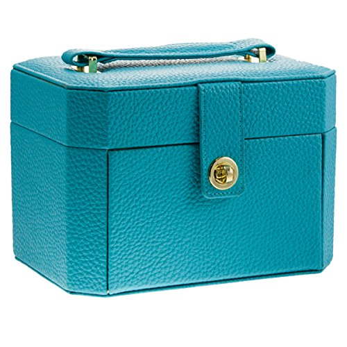 Lori Leigh Designs 1020 Earring Chalet Vanity Jewelry Box, 8 by 5-1/2 by 5-3/4-Inch, Seaside Blue