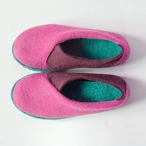 BureBure Envelope Felted Slippers for Women Perfect Fit Handmade in Europe