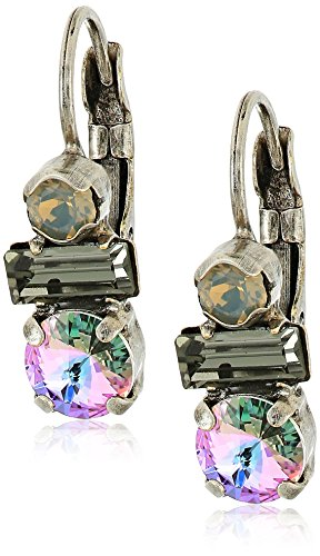 Sorrelli Purple Lotus Divergent Drop Earrings