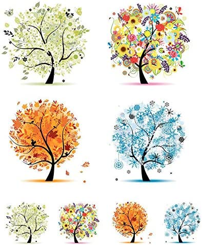 Enamel 48376 Choose Either Ceramic Images 3 Different Size Sheet Summer Trees Enamel Decal Waterslide Decal Ceramic Decal or Glass Fusing Decals Glass Decal to Choose from