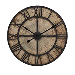 IMAX 18308 Bryan Map Wall Clock