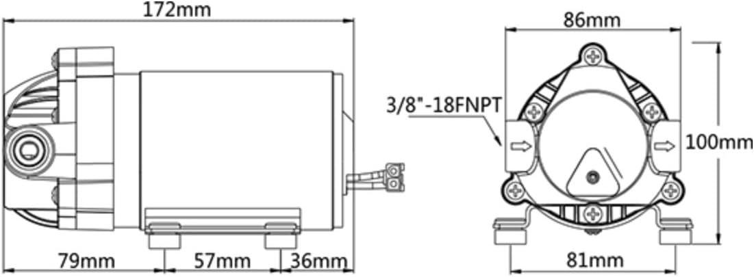SEAFLO SFRO2-G50-3A Reverse Osmosis Booster Pump