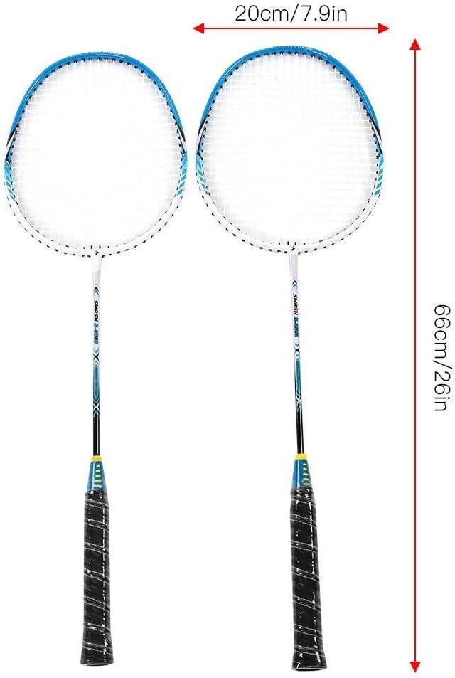 2 pi/èces en Alliage daluminium Durable Raquette de Badminton Accessoire de Raquette dentra/înement de Balle de Fitness Jacksking Raquette de Badminton
