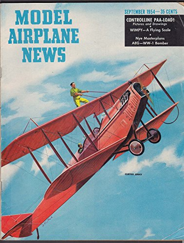MODEL AIRPLANE NEWS Curtiss Jenny Wimpy AEG WW1 Bomber + 9 1954